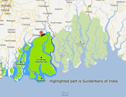 sunderbans national park real map